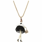 BETSEY JOHNSON Paris Girl Pendant