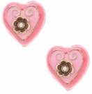BETSEY JOHNSON Paris Heart Studs