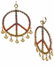 BETSEY JOHNSON Peace Gypsy Hoop Earrings
