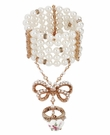 BETSEY JOHNSON Pearl Bow Ring Stretch