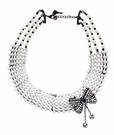 BETSEY JOHNSON Pearl Collar Necklace