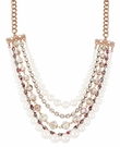 BETSEY JOHNSON Pearl Multi Chain Necklace