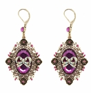 BETSEY JOHNSON Pink Frame Drop Earrings