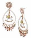 BETSEY JOHNSON Rockhorse Chandelier Earrings
