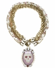 BETSEY JOHNSON Skull Purple Collar Necklace