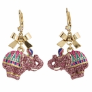 BETSEY JOHNSON Zoo Elephant Drop Earrings