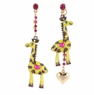 BETSEY JOHNSON Zoo Giraffe Drop Earrings