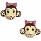 BETSEY JOHNSON Zoo Monkey Studs