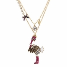BETSEY JOHNSON Zoo Ostrich Necklace