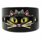 BETSEY JOHNSON Black Cat Open Cuff