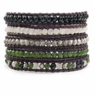 CHAN LUU Green Mix Wrap Bracelet