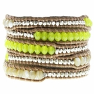 CHAN LUU Neon Yellow Mix Wrap Bracelet