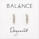 DOGEARED Flat Bar Stud Earrings-Silver