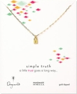DOGEARED Trust Little Lock Necklace