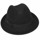 Italian Wool Hat-Fedora Black