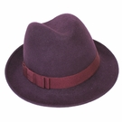 Italian Wool Hat-Fedora Purple