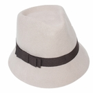 Italian Wool Hat-Small Brim Fedora Natural