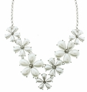 JEST JEWELS 7 Pearl Flower Statement Necklace