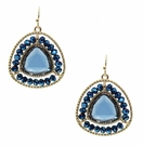 JEST JEWELS Beaded Gemstone Drop Earring-Blue