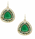 JEST JEWELS Beaded Gemstone Drop Earring-Green
