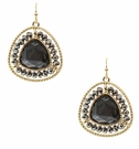 JEST JEWELS Beaded Gemstone Drop Earring-Hematite