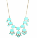 JEST JEWELS Enamel Bubble Drop Necklace Aqua