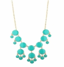 JEST JEWELS Enamel Bubble Drop Necklace Turquoise