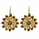 JEST JEWELS Gold Beaded Flower Drop Earrings