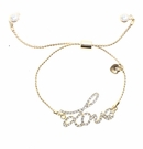 JEST JEWELS Gold Pull Tie Love Bracelet