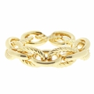 JEST JEWELS Gold Rope Link Stretch Bracelet
