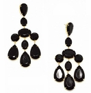 JEST JEWELS Large Bead Chandelier Earring-Black