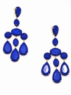 JEST JEWELS Large Bead Chandelier Earring-Blue