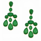 JEST JEWELS Large Bead Chandelier Earring-Green