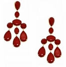 JEST JEWELS Large Bead Chandelier Earring-Red