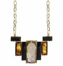 JEST JEWELS Long Deco Crystal Necklace-Ivory Mix