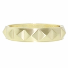 JEST JEWELS Matte Gold Pyramid Bangle
