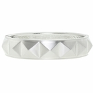 JEST JEWELS Matte Silver Pyramid Bangle