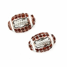 JEST JEWELS Mini Football Crystal Stud Earrings