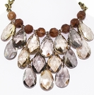 JEST JEWELS Multi Topaz Stone Bib Necklace