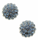 JEST JEWELS Pave Ball Studs-Blue