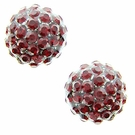 JEST JEWELS Pave Ball Studs-Red