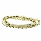 Jest Jewels Pave Bar Chain Wrap Bracelet