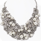 JEST JEWELS Pearl & Crystal Multi Stone Necklace