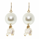JEST JEWELS Pearl Drop Dangle Pearl Earrings