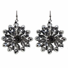 JEST JEWELS Silver Beaded Flower Drop Earrings