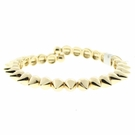 JEST JEWELS Spike Open Cuff Bracelet-Gold
