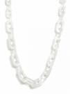 JEST JEWELS Square Long Resign Link Necklace-Silver