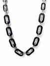 JEST JEWELS Square Long Resin Link Necklace-Black