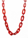 JEST JEWELS Square Long Resin Link Necklace-Red