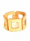 JEST JEWELS Square Stretch Bracelet-Gold